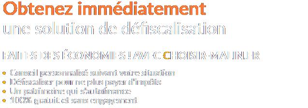 Loi Pons - Défiscalisation - Choisir-Malin.fr