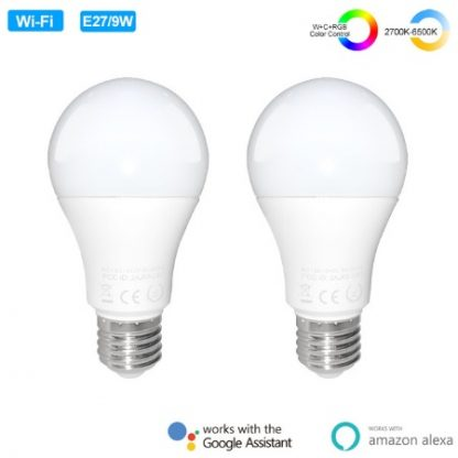 2 ampoules connectees