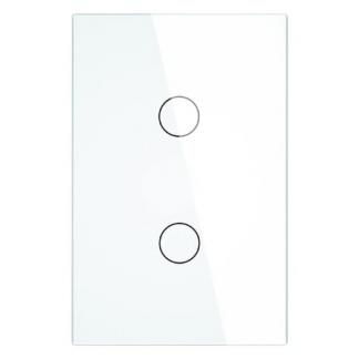 Interrupteur blanc 2 boutons