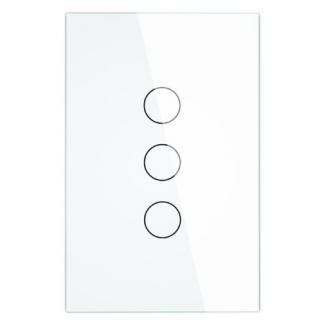 Interrupteur blanc 3 boutons
