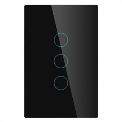 Interrupteur noir 3 bouton