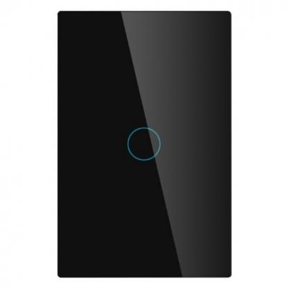 Interrupteur noir 1 bouton